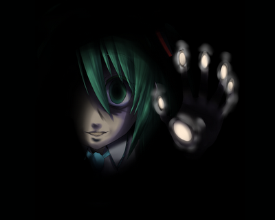 black dark hatsune_miku vocaloid (1)