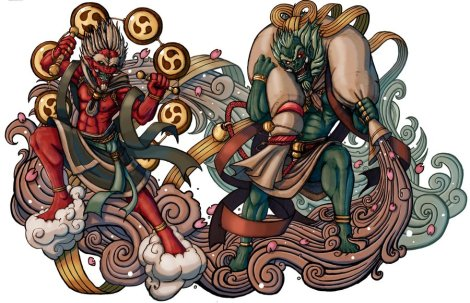 demon_gods_fujin_and_raijin_by_elbrazo-d3khwa3