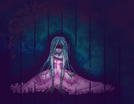 Dark_wood_circus_steel_cage_princess_by_draconasahara-d4khsat